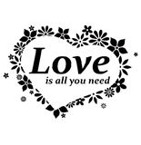 Wallsticker Love is all you need