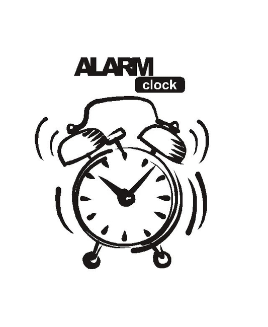 Wallsticker Alarm Clock