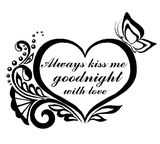 Wallsticker - Always kiss me goodnight